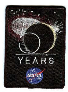 NASA 50 Years Anniversary Logo Embroidered Patch